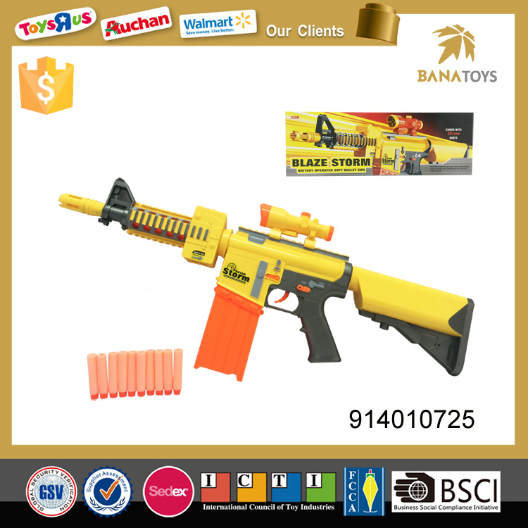 Electric toy soft bullet guns and weapons army