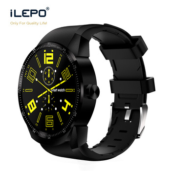 2017 IPS screen 3G Wifi android watch smart 4.1 android system with bluetooth 4.0 Heart rate nomitor smart watch sim iLepo watch