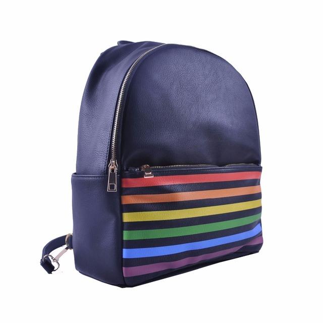 2018 Fashion Pu Backpack Black Leather Backpack School Backpack