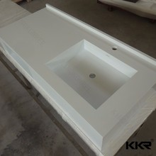 crystal white quartz one piece bathroom sink and countertop seashell countertops