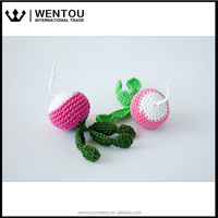 Eco-friendly Kitchen Decoration Hypoallergenic Toy Crochet Knit Vegetables