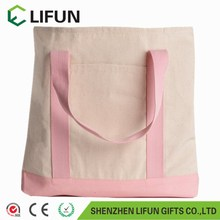 2017 Simple ecology organic cotton canvas tote shopping bag