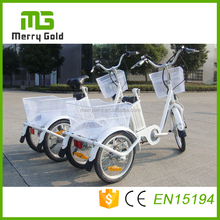 25km/h 36v 250w steel frame 10ah lithium 3 wheels adult electric tricycle for adults