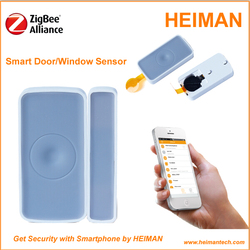 Smart Z wave wireless door magnetic contact for home intruder system