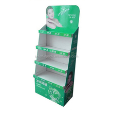 Pantone color printed custom design cardboard shopping mall display rack