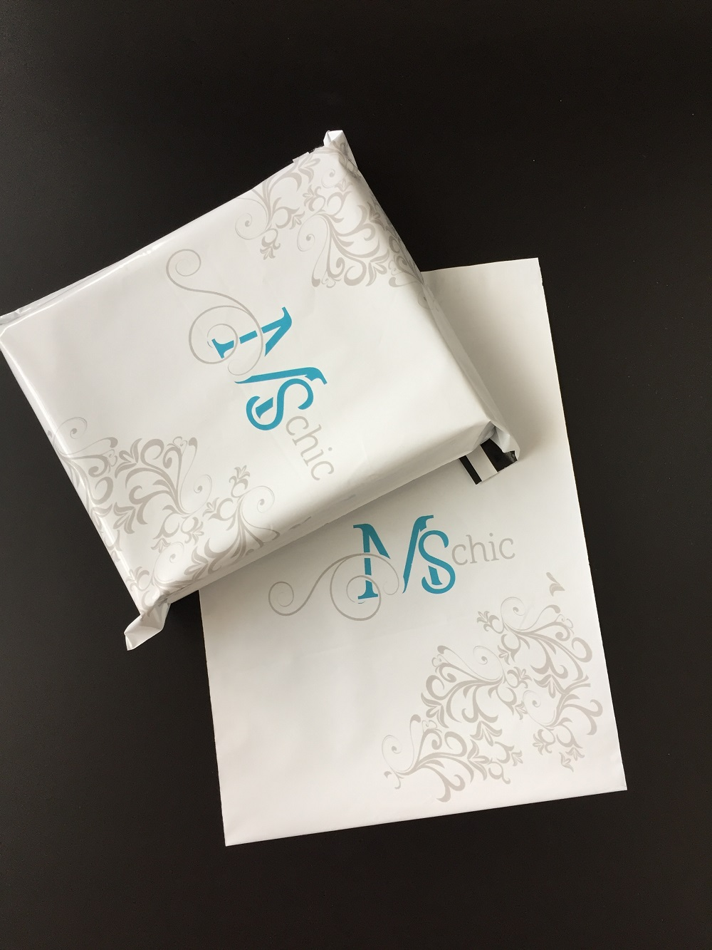 High class customized design logo printing new virgin material plastic envelope with seal