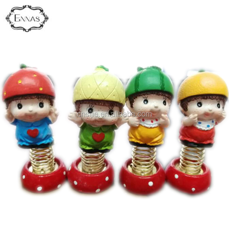 Customized Bobble Head Spring , Polyresin Bobble Head Bodies