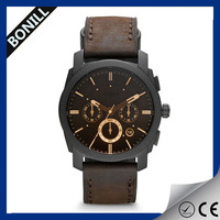 Watch fashion Custom watch manufacturer PU leather military watch OEM