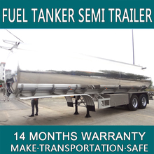 China 2016 good Quality 3 axles oil transport tankers / Liquid petrol gas tank trailer