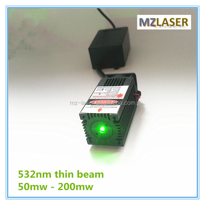 532nm with Thin Beam 50mw 100mw 150mw 200mw Green laser module for Room Escape/ Maze props/ Bar dance Lamp