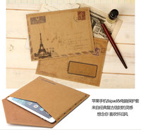 PU Leather And Fiber Sleeve Mail Envelope Style Case for Ipad Air 1 2