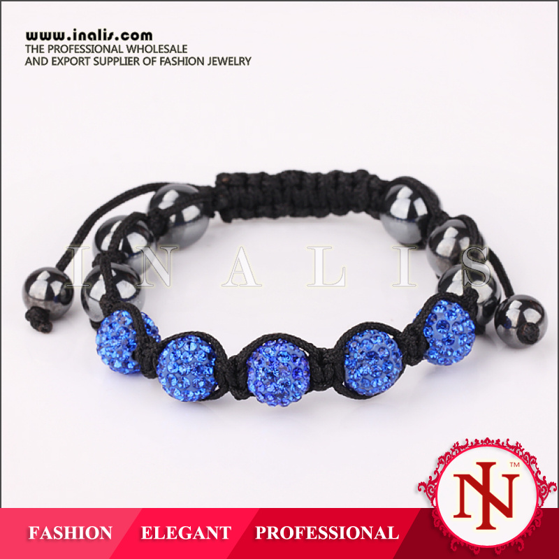 Blue style shamballa bracelets 2014 for boys B064