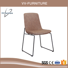 good quality chrome frame leather upholstered dining chair