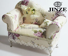 Printed with flower sofa shape decorative fsd jewelry box for wholesale china