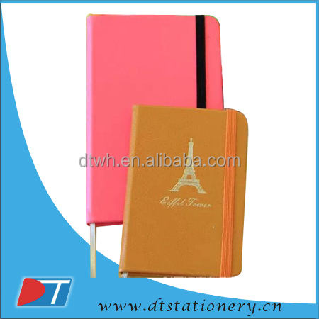 PVC/PU leather notebook/vintage style diary/recycle note book