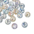 Zinc Based Alloy Spacer Beads Round Clear AB Color At Random Sequins About 12mm Dia