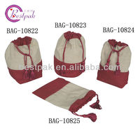 promotional cotton drawstring tote bags