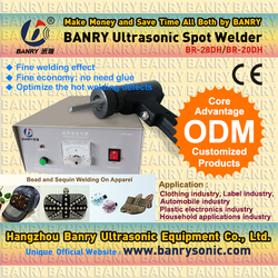 Hand-held ribbon ultrasonic spot welding machine