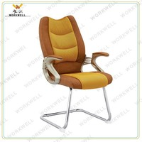 WorkWell hot sale fabric visitor chair office chair without wheels Kw-f6066-visitor