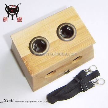 Pure bamboo moxa box with holes Moxibusition device