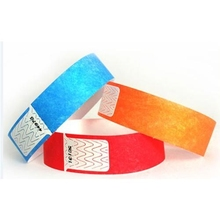 13.56mhz RFID disposable paper wristbands Ntag213 / ultralight ev1 nfc pvc bracelets