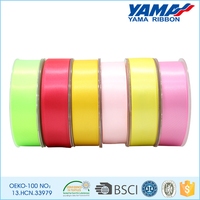 Manufacture custom the ribbon colorful boutique satin ribbon