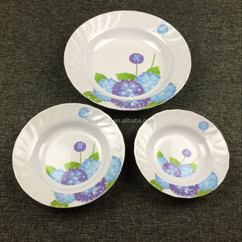 Custom cheap melamine plates indian soup plates