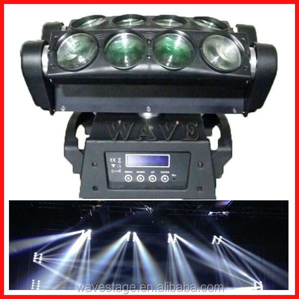 WLED 1-13 New 8 pcs 4 IN 1 RGBW (WHITE) 10W led beam moving head led auto show light