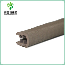 Shock absorption rubber trim seal