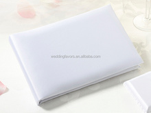 White Simplicity Plain Wedding Guest Book