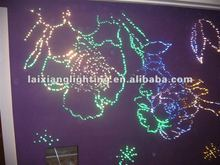 2012 led modern multi color fiber led light starry sky lighting with 8 kinds color change crystal