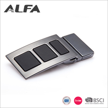 Alfa Custom Designer Gun Metal Treated Plain Metal Belt Buckles For Men