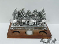 Poly resin electronic plating resin statue last supper