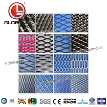 GLOBOND Profession Customize Spay Coating Expanded Metal Mesh,Build Diamond Mesh,Galvanized Small Hole Expanded Ed Metal Mesh