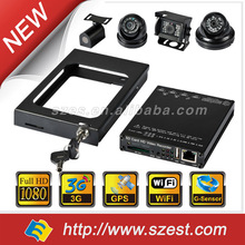 New 2014 Specialized Mobile DVR for Taxi Car 4CH WIFI G-Sensor GPS 256GB 3G 1080P Vehicle Security Camera