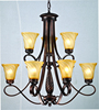 2015 newest design 2 levels Alabaster Chandelier Lighting with UL&CUL listed