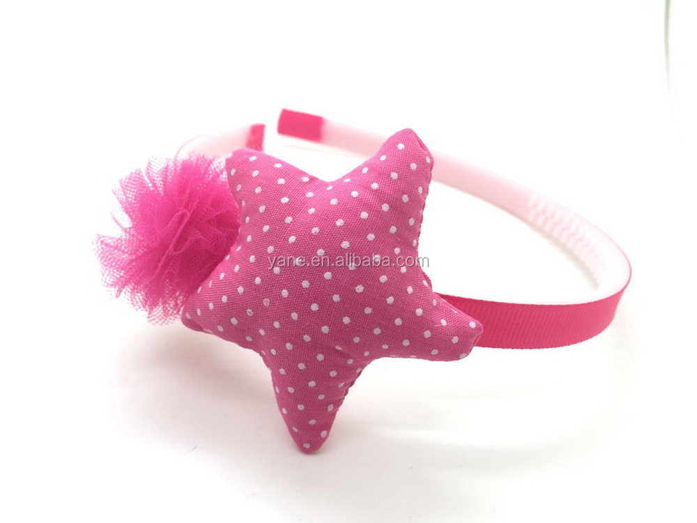 cute star fabric hair accessories ,cheap and popular for girls headbands