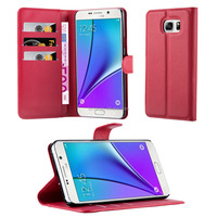 Book Wallet Phone Case With Card Slots For Samsung Galaxy Note5