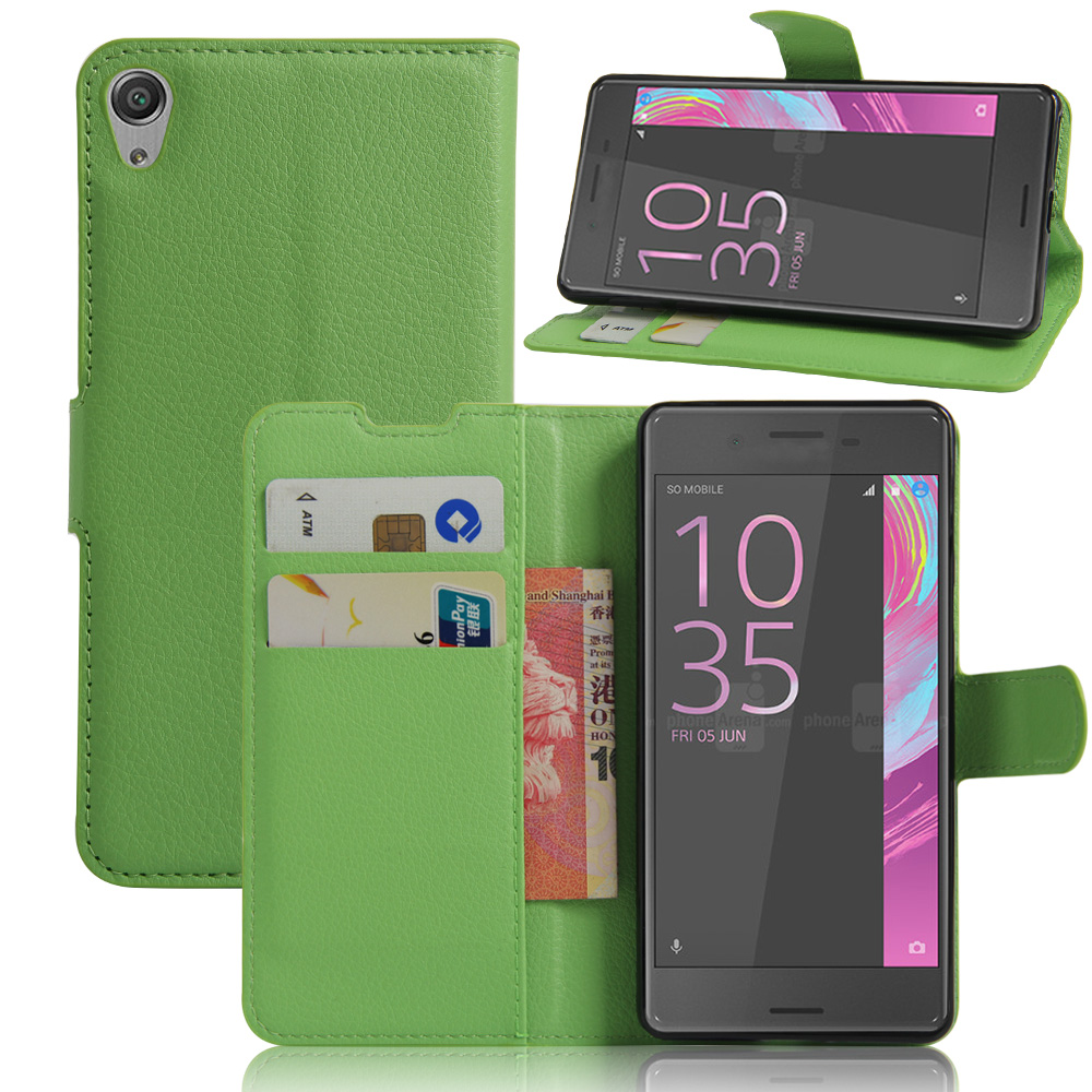 New business style flip wallet back cover for Sony Xperia E5 leather case