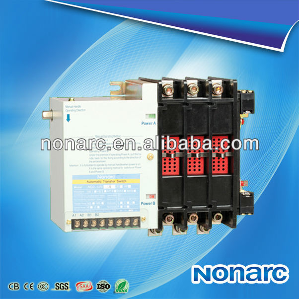 Rated current: 40A-5000A NQ2(ATS) Electrical Control Panel