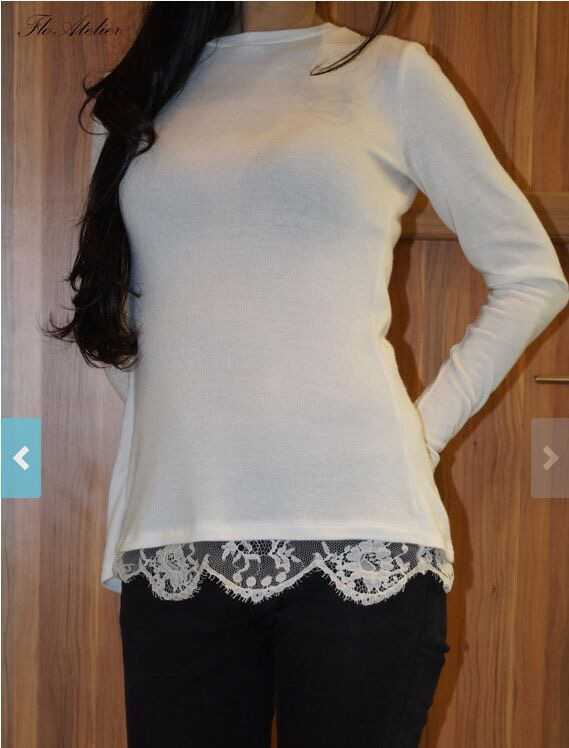 S61906A Sexy New Ladies Long Sleeve Lace Tops Casual Blouse