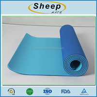 Portable soft resilient custom printed yoga mat fabric