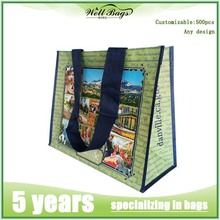 wholesale cheap logo custom pp woven recycle shopping bag