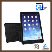 new products 2 in 1 Slim Armor TPU&PC kickstand case cover for Apple ipad 5, For iPad Air Case Cover