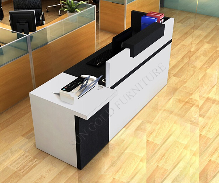 Simple modern front desk counter office reception counter for Office counter design