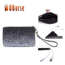 Shinning handbags&evening bag with power bank