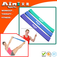 3/4 levels natural latex resistance band sets,yoga band,thera band for gym exercise