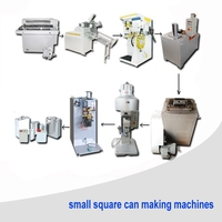 Rectangular can making line Oil metal container making machine