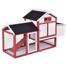 Factory direct wholesale cheap Large Chicken Coop Wooden Bunny Animal Hen Cage Rabbit Hutch with Run
