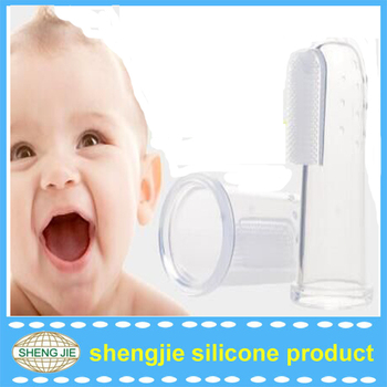 Facory price infant silicone finger baby toothbrush for teething
